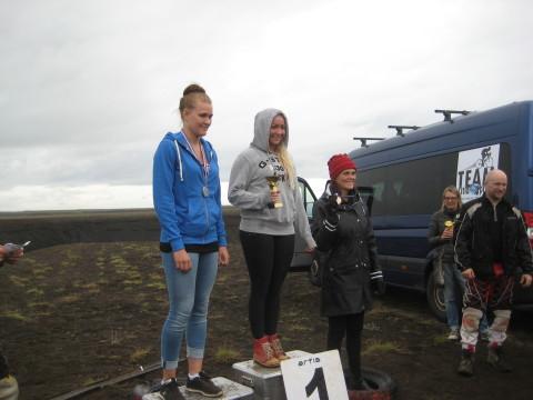 Sigurvegarar í kvennaflokki: Brynja Hlíf, Guðfinna og Tedda